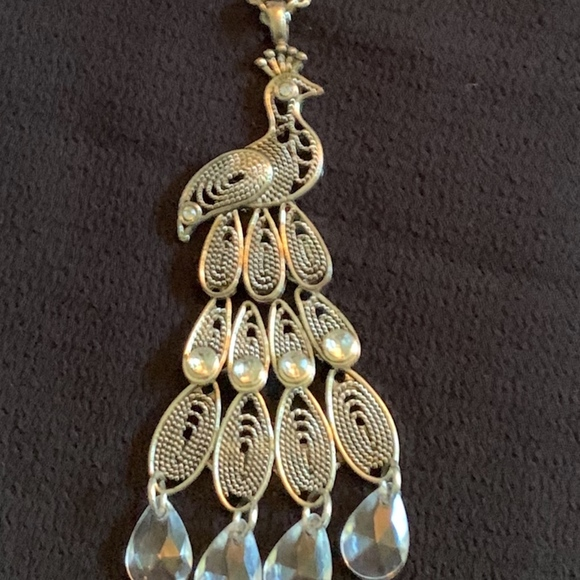 Jewelry - Peacock Pendant on Extra Long Necklace